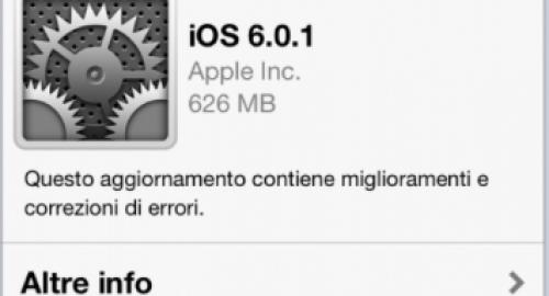 Aggiornamento iOS 6.0.1: oltre ai bug migliorato anche Siri